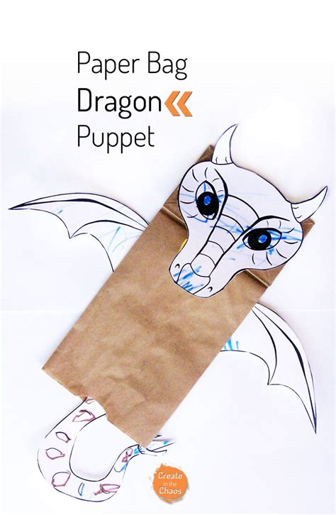 Printable Paper Bag Puppet Templates