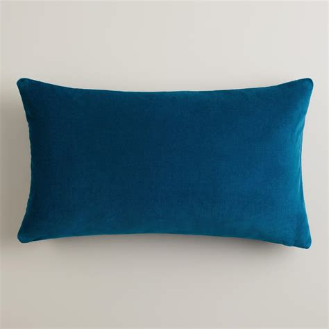 Blue Lumbar Pillow blue velvet lumbar pillow world market
