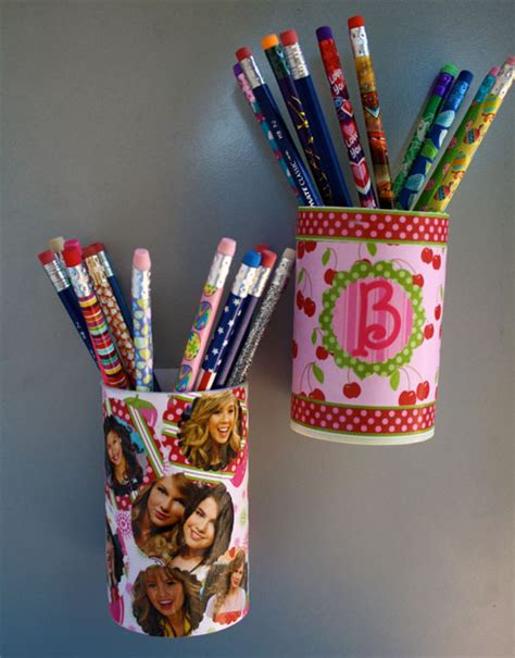 recycled container  magnetic pencil holder skip   lou