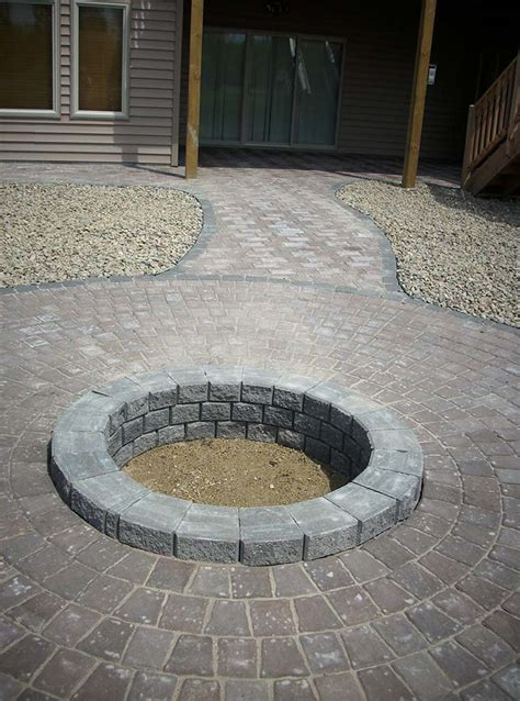 firepit pavers pit using pavers pictures to pin on pinsdaddy