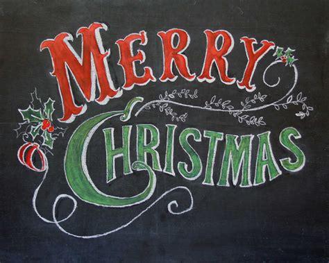 merry christmas chalkboard art print hand  theblackandwhiteshop