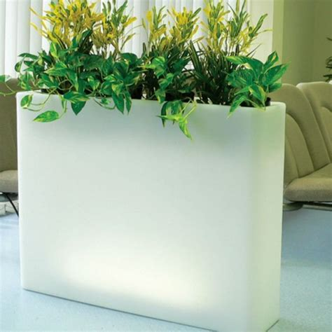 illuminated indoor outdoor planters modern patio