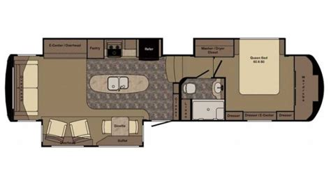 redwood 5th wheel floor plans redwood 36rl 5th wheel floor plan