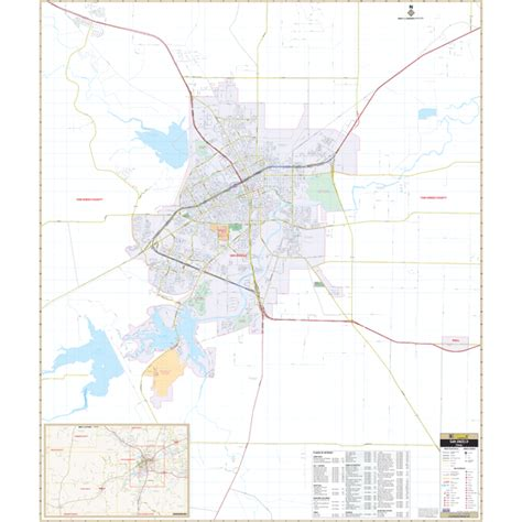 map san angelo texas city roll maps san angelo tx wall map
