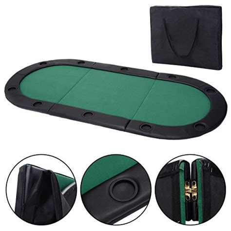 giantex 79 quot x36 quot portable tri fold oval padded poker