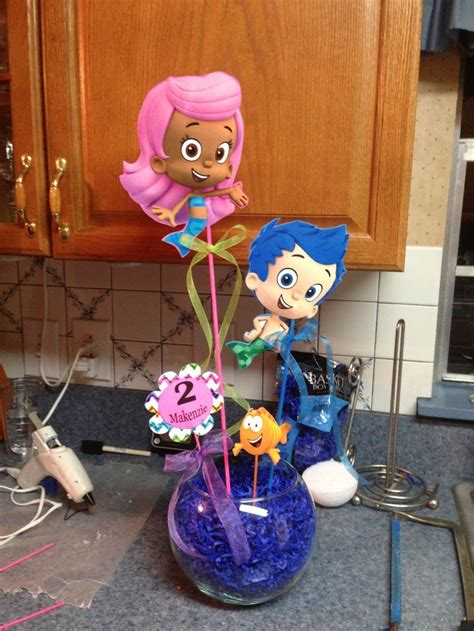 bubble guppies centerpiece diy pinterest