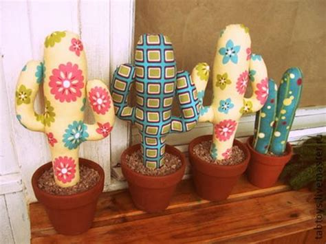 fabric home decor ideas home decorating with cacti and handmade cactus home