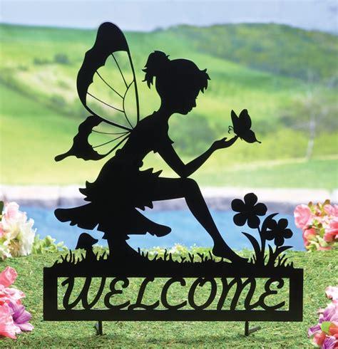 Home Decorating Advice Fairy Welcome Garden Shadow Stake Fresh Garden Decor