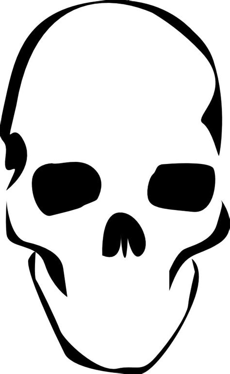 Simple A3 Printable Skull Stencil Stencils Pinterest Skull Cut Out Template