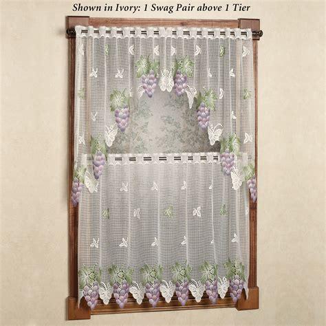 vineyard curtains vineyard grape lace tier window treatment