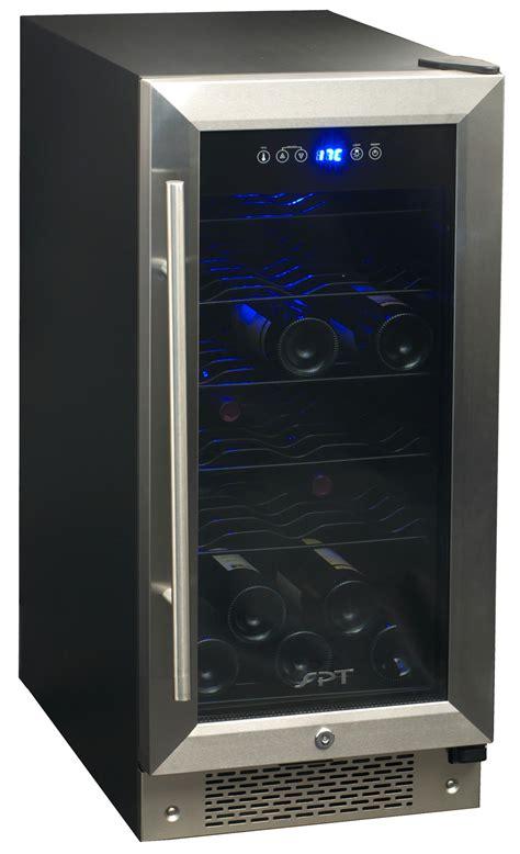 small under cabinet wine fridge spt wc 30u 32 bottle under counter wine beverage cooler
