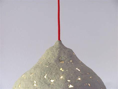 paper mache hanging lights calyx of flower i paper pulp pendant l crea re com