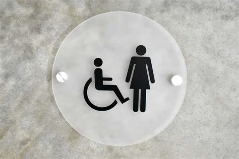 Modern Bathroom Signs by Frosted Contemporary Restroom Signs Frosted