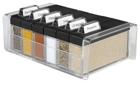 Spice Rack For Large Containers Spice Box Contemporary Spice Jars And Spice Racks By