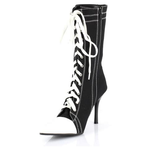 kick a goal in high heeled sneaker boots high heels daily