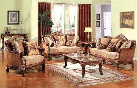 victorian living room furniture victoria cherry with gold accents sofa set d081