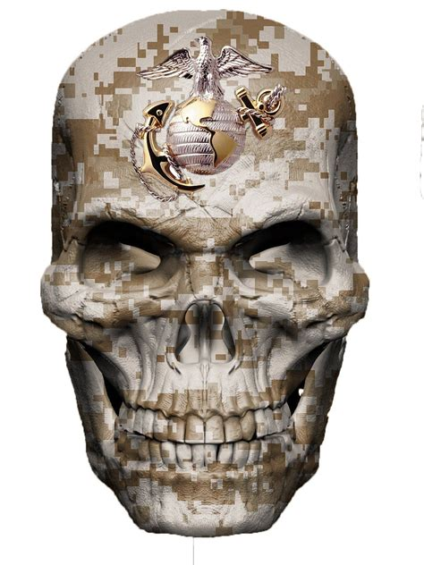 tattoo camo amazon amazon com marine corps skull decal usa sticker military