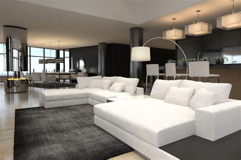 Modern Black And White Living Room by 60 Stunning Modern Living Room Ideas Photos Designing Idea