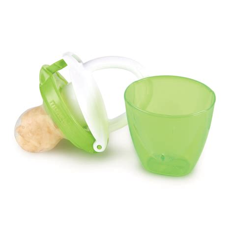 munchkin safe easy on the go baby food silicone pureetravel feeder with cap 4m sustuu