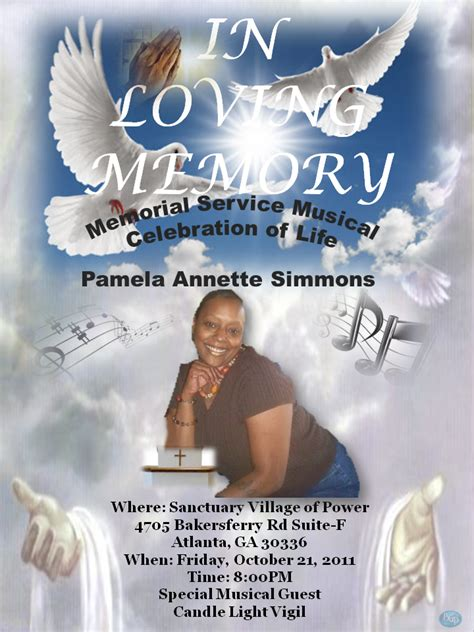 In Memory Of Flyer Template