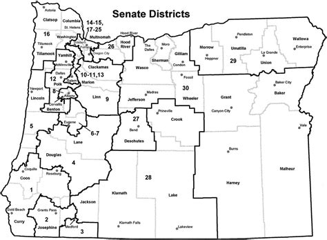 map of oregon districts oregon counties