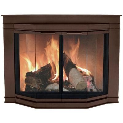 Glass Doors For Fireplaces by Pleasant Hearth Glacier Bay Large Glass Fireplace Doors Gl