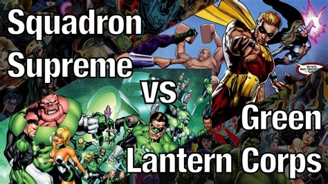 squadron supreme squadron supreme vs green lantern corps marvel vs dc