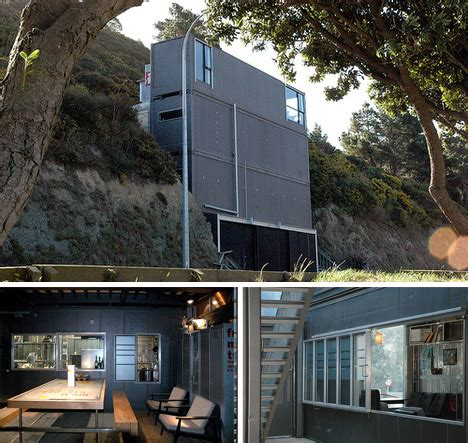 Home New Zealand Architecture Design And Interiors new zealand cliffside shipping container home urbanist
