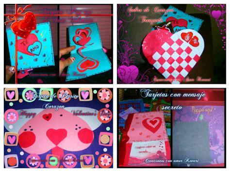 manualidades para dia del amor y la amistad 4 lindas tarjetas para el d 237 a del amor y la amistad
