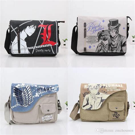 Denim Slingbag Deathnote 2017 31 26cm anime canvas bag messenger black butler attack on titan note shoulder