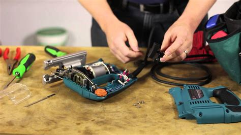 how to service how to repair a saber saw switch lawn care power tools