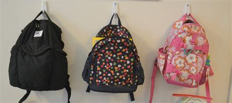 ideas for hanging backpacks my little smarties 5 cheap organizing ideas