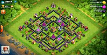 Design trophy base clash of clans town hall 8 terkuat design base