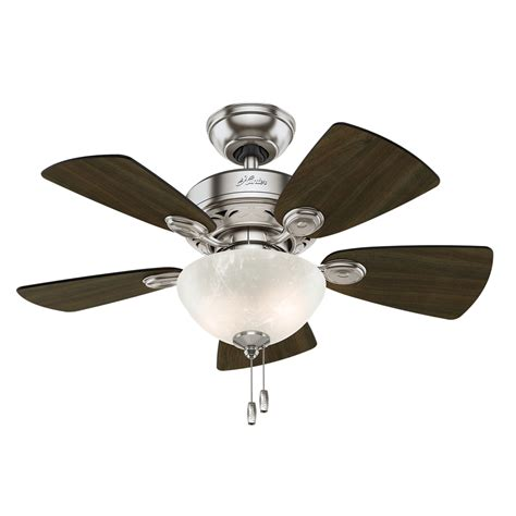 hunter ceiling fan downrod shop hunter watson 34 in brushed nickel indoor ceiling fan