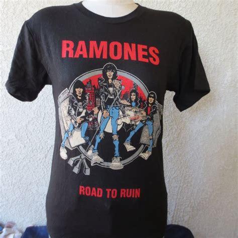 T Shirt Joey Ramone Vintage Import vintage t shirt ramones band road to ruin johny joey deedee