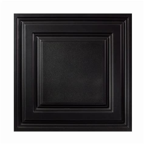 genesis 2 ft x 2 ft icon relief black ceiling tile 754