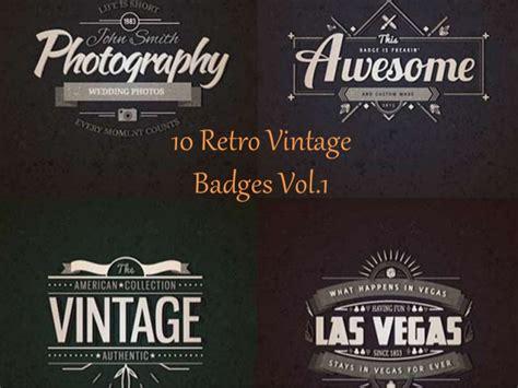 retro logo template psd 10 realistic vintage logo templates psd