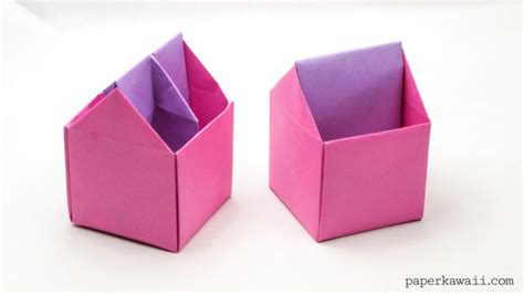 Large Origami Box - origami toolbox pen pot paper kawaii