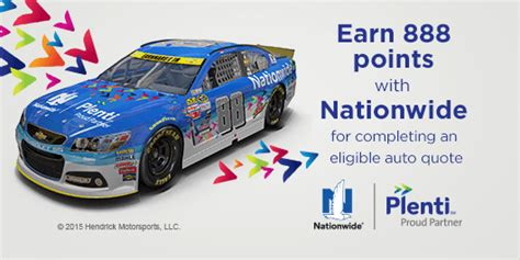 Nationwide Sweepstake Program - promotion to earn plenti points and meet nascar s dale earnhardt jr