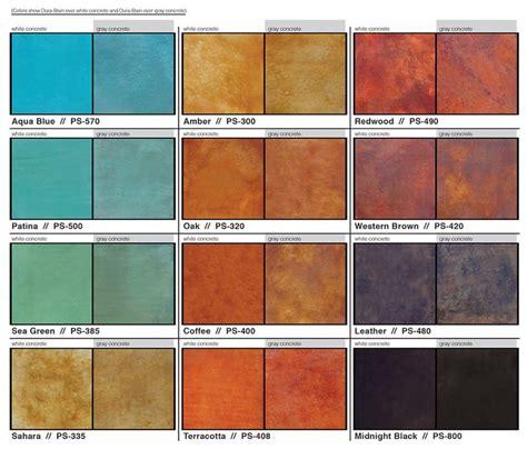 concrete paint colors 77 best concrete stain colors images on
