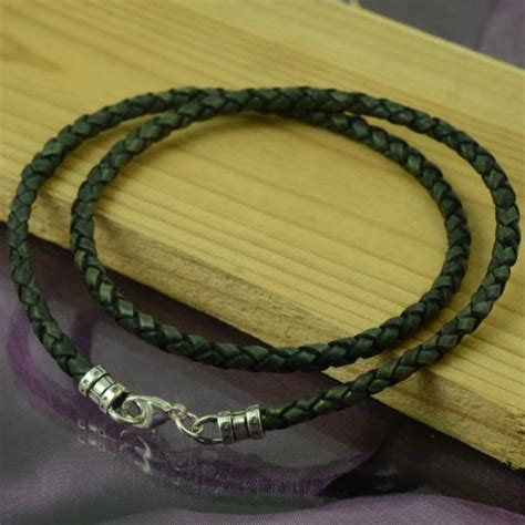 Handmade Leather Necklaces - handmade mens leather necklace antique blackgrey custom