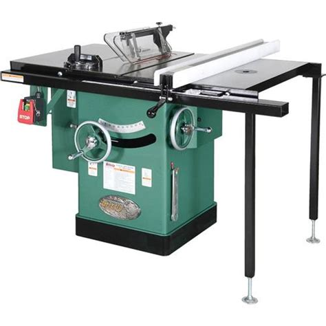 10 quot 5 hp 240v cabinet left tilting table saw grizzly