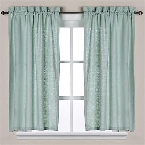 tier window curtains soho linen bath window curtain tier pair bed bath beyond