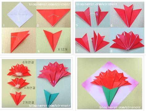 How To Make A Paper Carnation - 카네이션 접기 손쉽게 만들 수 있는 한지로 접은 카네이션 네이버 블로그