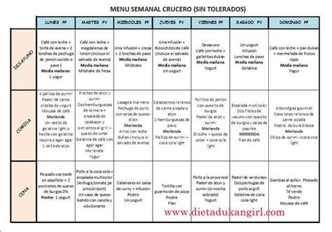 dukangirl  aventura dukan dietadukangirl menu semanal fase crucero dietas pinterest