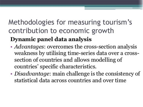 weakness of cross sectional study tourism and economic growth