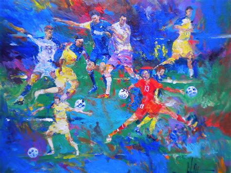soccer painting soccer balls by carlos ostos