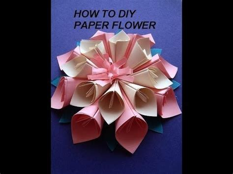 PAPER FLOWER, KANZASHI how to diy, paper crafts, wall