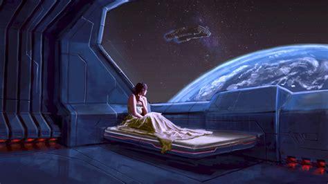 hd wallpaper spaceship bedroom window planet