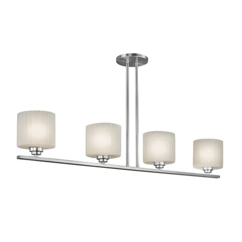 brushed nickel island light filament design 4 light brushed nickel island pendant cli
